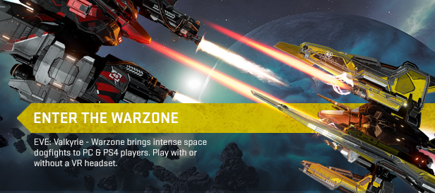 Up to 50% off on EVE Online packs | EVE: VALKYRIE – WARZONE