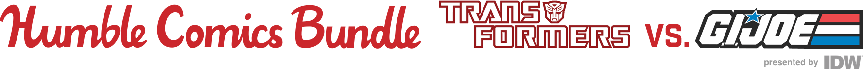 The Humble Comics Bundle: Transformers vs. G.I. Joe presented by IDW