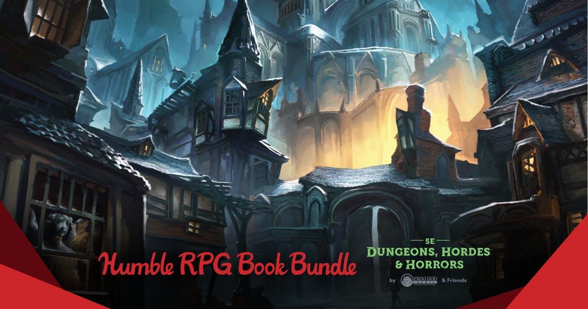 The humble rpg bundle 5e dungeons hordes horrors by frog god the humble rpg bundle 5e dungeons hordes horrors by frog god friends fandeluxe Images
