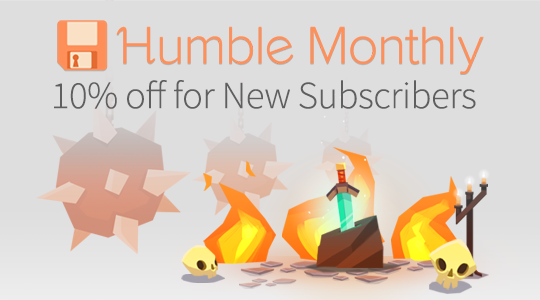 10% off your first month of Humble Monthly